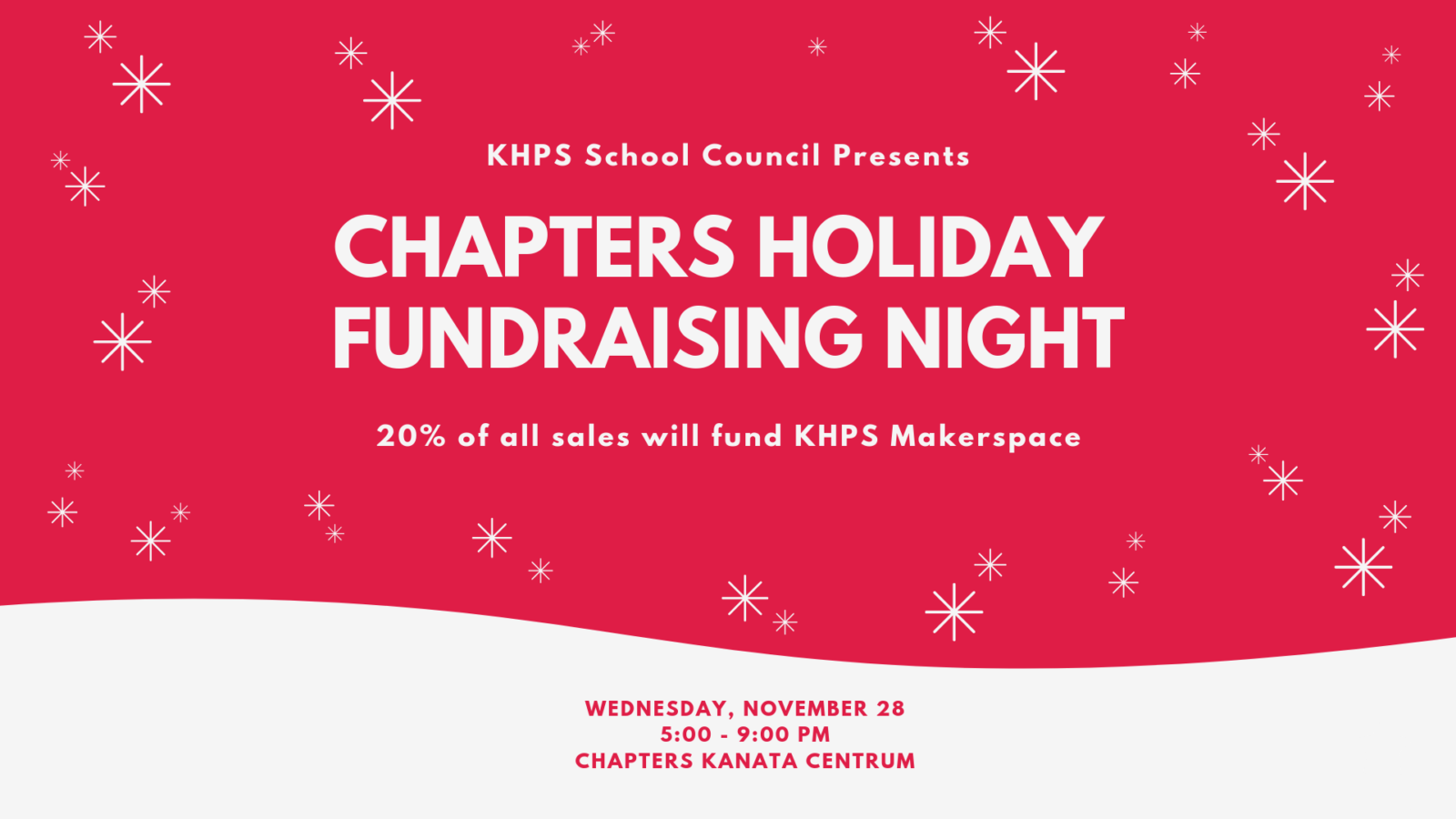 Chapters Holiday Fundraising Night