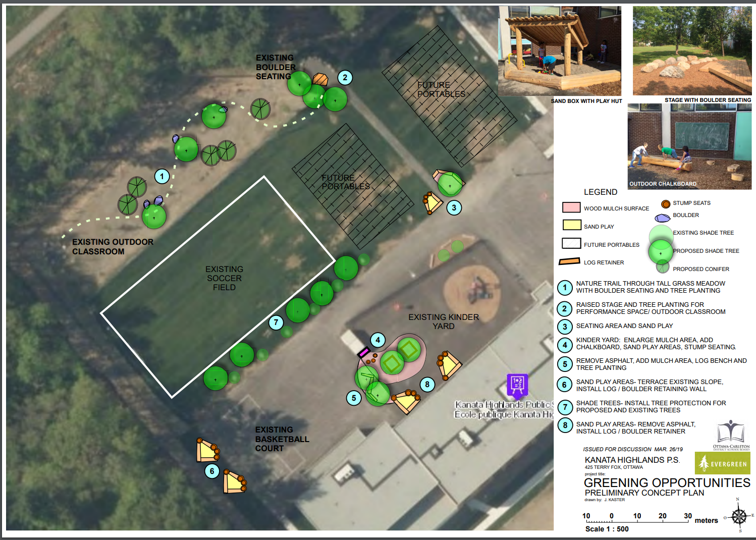 Proposed school yard plan